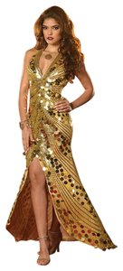 Panoply Prom Homecoming Halter Paillette Pageant Dress