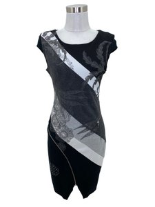 Desigual short dress Black Grey on Tradesy