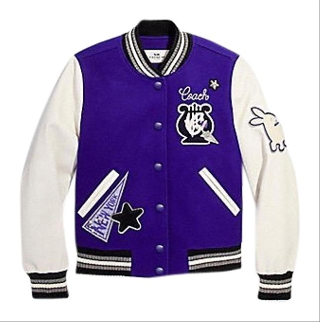 Item - Purple Women Waverly Nyc Varsity Wool/Leather Purple/White Color S Jacket Size 6 (S)