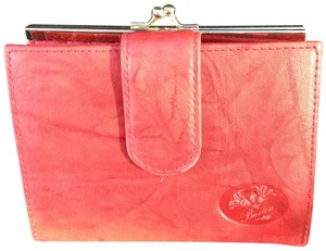 Buxton Buxton cardex ruby red distressed leather wallet