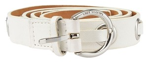 Michael by Michael Kors Michael Michael Kors White Leather Belt, Size S (39907)