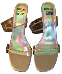Mootsies Tootsies New Heel Sparkles Shimmery Prom Silver Formal