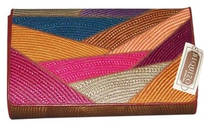 BEQUIZO BEQUIZO MIXED, RAINBOW, STYLE CLUTCH PURSE Clutch