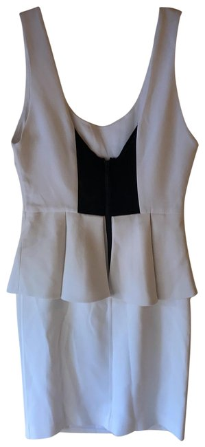 Item - White and Black Short Night Out Dress Size 4 (S)