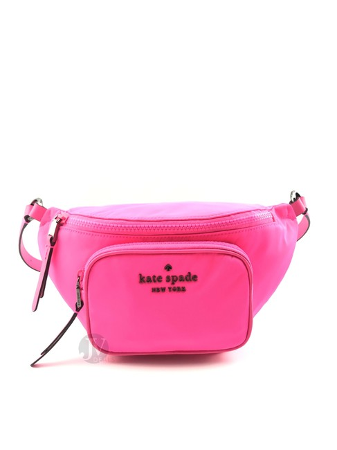 Item - Belt New York Dorien Medium Waist Pink Nylon Cross Body Bag