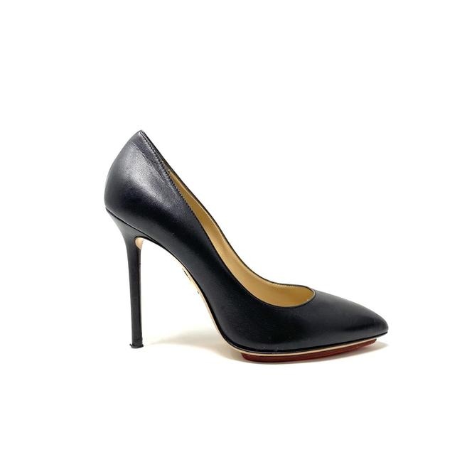 Item - Black Leather Pointed-toe - Pumps Size EU 37 (Approx. US 7) Regular (M, B)