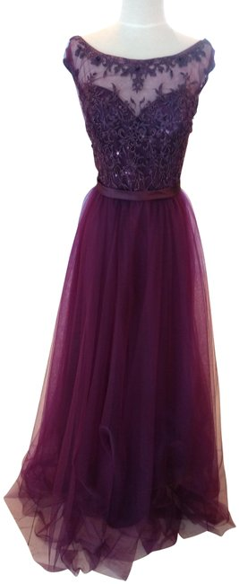 Item - Eggplant Style # 156 Long Formal Dress Size 12 (L)
