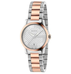 Gucci Two Tone Stainless Steel G Timeless Womens YA126528