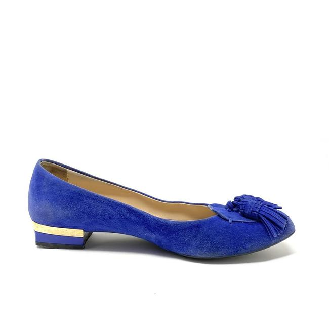 Item - Blue Suede Tassel-accented Loafers - Flats Size EU 37 (Approx. US 7) Regular (M, B)