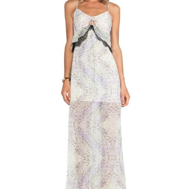 Item - Purple Green Spring Floral Long Casual Maxi Dress Size 2 (XS)