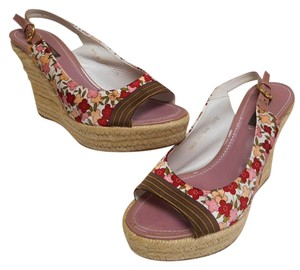 Louis Vuitton Floral Pink Wedges