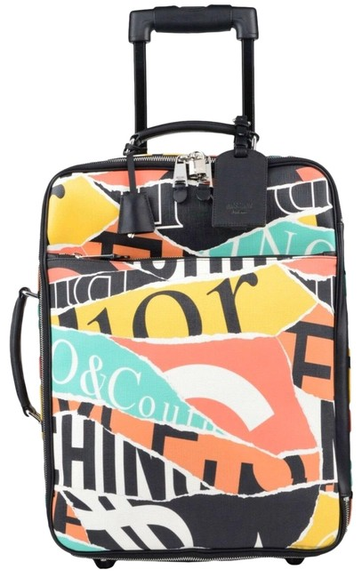 Item - Couture Jeremy Scott Eco-leather Multi-color Luggage Trolley Weekend/Travel Bag