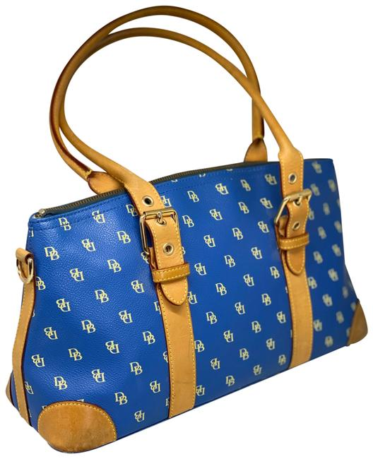 Item - And Blue/Tan Blue/Tan Leather Satchel