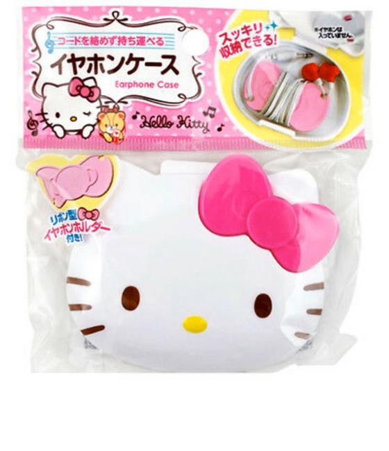 Item - Pink Earphone Case with Bow Cord Wrap Organizer Sanrio New Tech Accessory