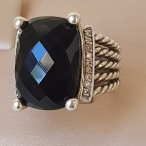 David Yurman David Yurman Wheaton 20x15 Black Onyx Diamond Ring