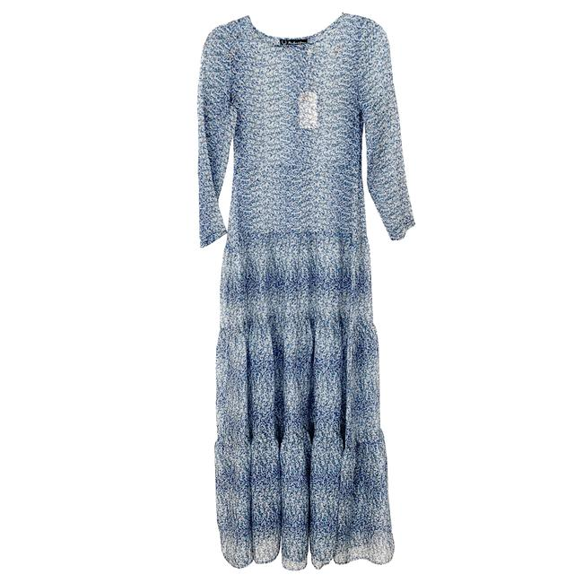 Item - Blue Floral Sleeve Long Casual Maxi Dress Size 2 (XS)