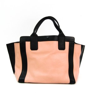 Chloé Tote in Black / Salmon pink
