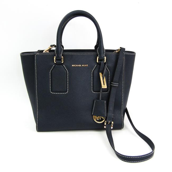 Item - Selby Md Satchel 30h5geys6l Women's Handbag Navy Leather Shoulder Bag