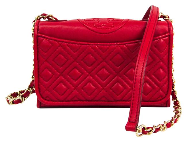 Item - Quilted Mini Chains Women's Red Color Leather Shoulder Bag