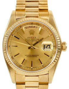 Rolex Rolex Day Date 18K Yellow Gold Champagne Dial Men's Presidential Watch