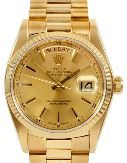Preload https://item2.tradesy.com/images/rolex-gold-day-date-18k-yellow-champagne-dial-men-s-presidential-watch-2715586-0-0.jpg?width=440&height=440