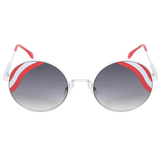 Item - White Wavy Round Sunglasses