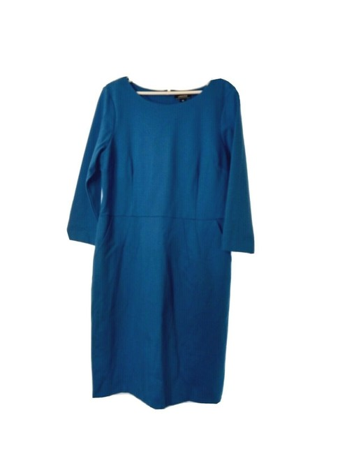 Item - Blue Pointe 3/4 Sleeve Stretch Pockets Comfortable 18t Tall Knee Length Short Work/Office Dress Size 18 (XL, Plus 0x)