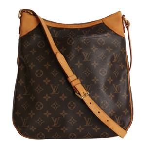 Louis Vuitton Monogram Shoulder Odeon Canvas Leather Cross Body Bag