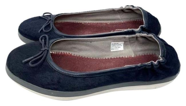 Item - Blue White Cayley Leather and Faux Fur Flats Size US 9 Regular (M, B)