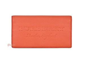 Burberry Burberry Large Embossed Leather Continental Wallet
