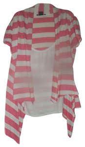 American Dream Top White with pink stripes