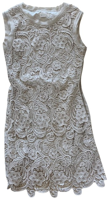 Item - Cream White Lace Mini Small Double Lined Short Casual Dress Size 4 (S)