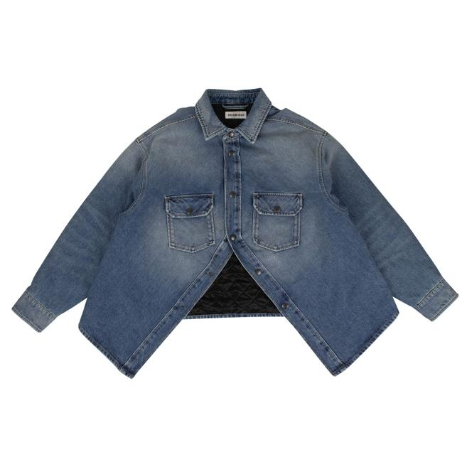 Item - Blue Denim Canadian Swing Shirt Button-down Top Size 6 (S)
