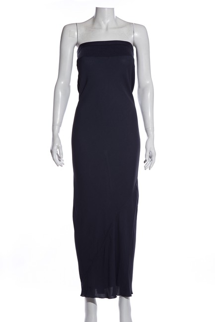 Item - Navy Strapless Long Casual Maxi Dress Size 6 (S)
