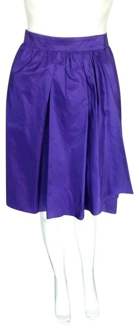 Item - Purple Silk Organza Flare Wrap Skirt Size 8 (M, 29, 30)