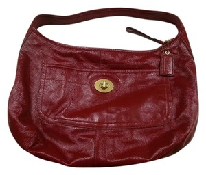 Coach Patent Leather Shoulder Bag