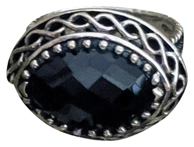 Handmade Sterling Silver Faceted Black Onyx Ring Handmade Sterling Silver Faceted Black Onyx Ring Image 1