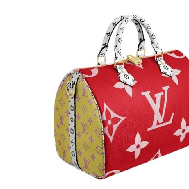 Item - Speedy Bandouliere Monogram Giant 30 Red/Pink Red/Pink Canvas Satchel