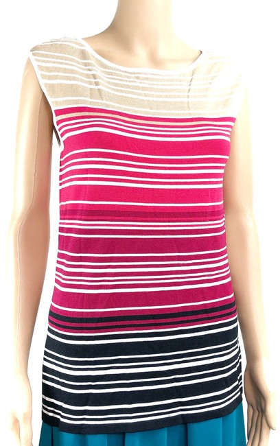 Item - Pink Tan Stripes Blouse Size 6 (S)