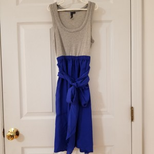 one.september short dress Heather Grey with Blue on Tradesy