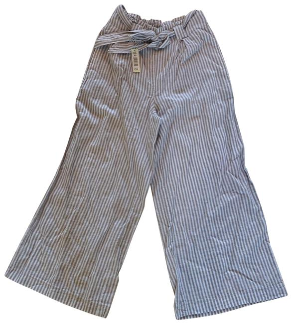 Item - Beige and White XS Striped Belted Pants Size 2 (XS, 26)
