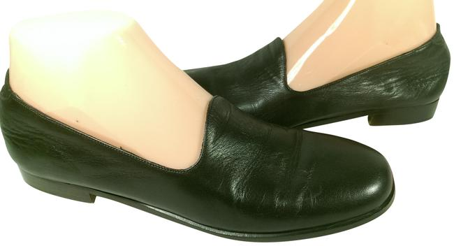 Item - Brown W/Black Accents Women Leather Dress Casual Walking Loafer 8aa Flats Size US 8 Narrow (Aa, N)