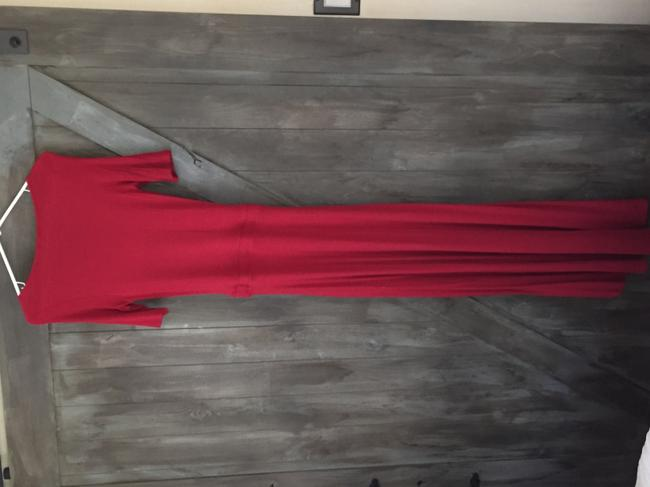 Red Maxi Dress by Anthropologie
