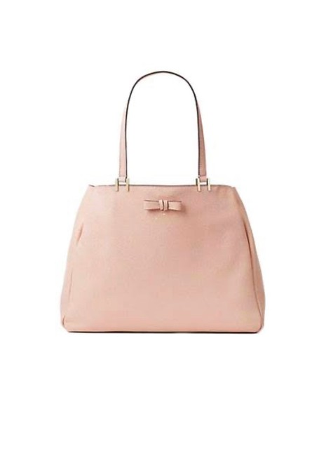 Item - New York Pershing Street Warm Vellum (Appears Light Pink) Leather Tote