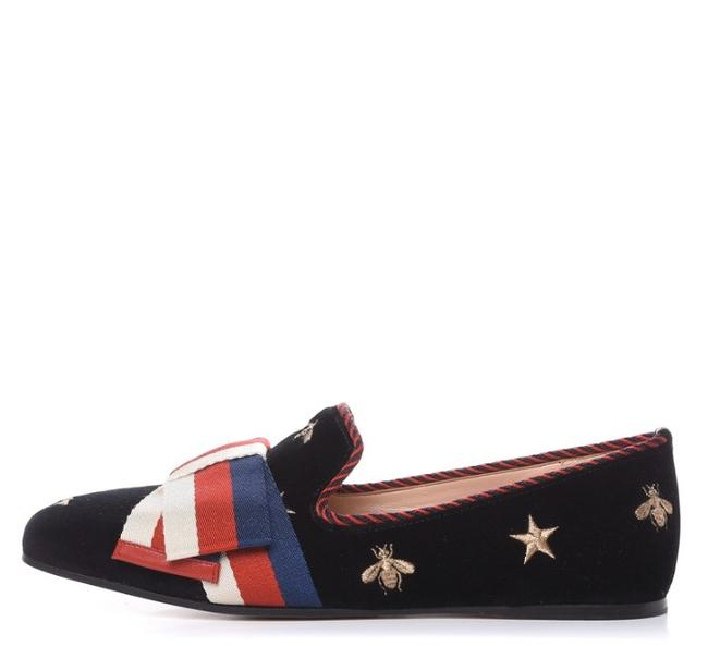 Item - Black Sylvie Velvet Embroidered Bee Bow Loafers Flats Size EU 39.5 (Approx. US 9.5) Regular (M, B)