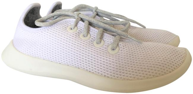 Item - White Lace Up Tennis Trainers Runners Sneakers Size US 8 Regular (M, B)