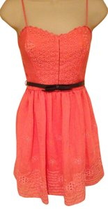 City Studios short dress Coral Lace on Tradesy