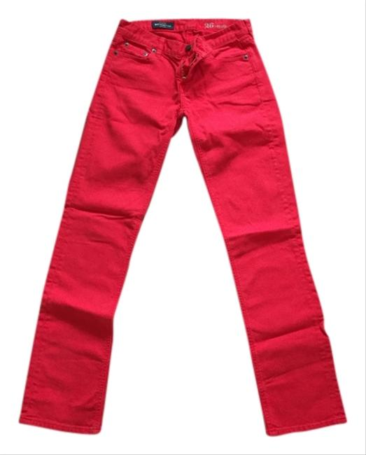 Item - Red Matchstick Straight Leg Jeans Size 26 (2, XS)