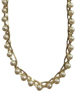 Napier Braided Pearl Necklace