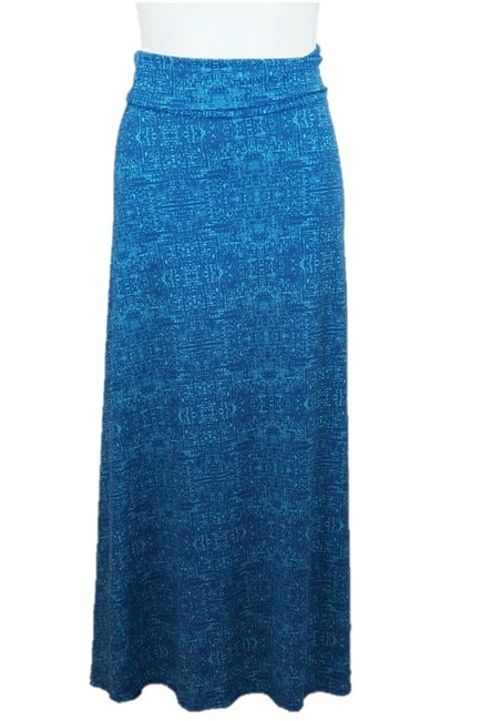 Item - Blue & Teal Long Skirt Size 0 (XS, 25)